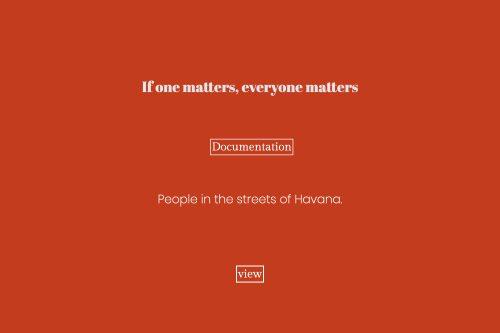 If one matters, everyone matters